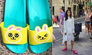 2 đôi dép lê 'huyền thoại' của Yoon Ah trên phim trường 'The K2'