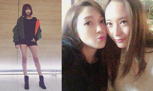 Sao Hàn 25/10: Jessica nhí nhảnh bên Krystal, Bora khoe đùi khỏe khoắn