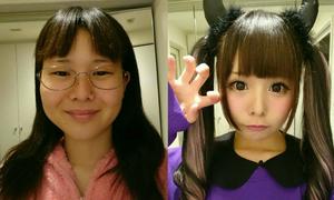 Cô gái Nhật thay da đổi thịt nhờ kỹ năng makeup 'thần thánh'