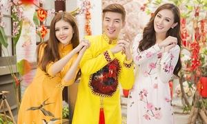 Kelly - Nam Hee - Lilly Luta xúng xính đón Tết