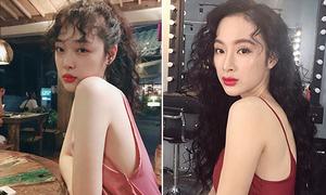Angela Phương Trinh đẹp không kém khi copy mốt tóc 'bà cô' của Sulli