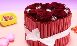 Tự làm hộp hoa trái tim xinh xắn tặng người thương ngày Valentine