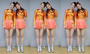 2 idol có đôi chân nuột y hệt búp bê