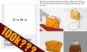 100k 1 chiếc túi Zara - chiêu lừa đảo cả nghìn người 'mắc bẫy'