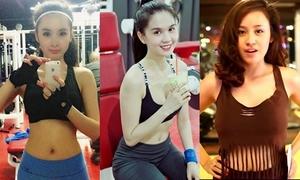 Những sao Việt, hot girl 'nghiện' khoe 3 vòng ở phòng gym