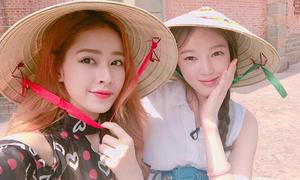 Chi Pu và Á hậu Hàn Quốc thân thiết như chị em