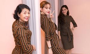 Chi Pu rủ mẹ và chị gái mặc đồ sành điệu giống hệt nhau