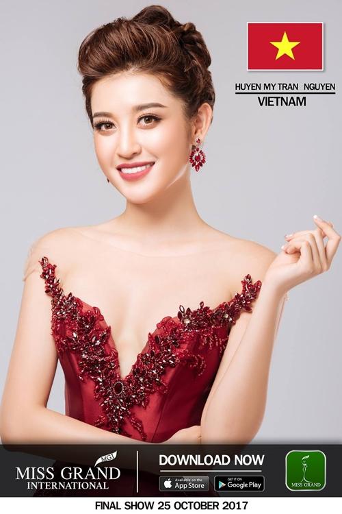 Huyền My lọt vào top thí sinh được yêu thích tại Hoa hậu Hòa bình thế giới 2017