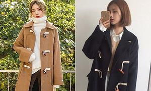 Kiểu áo khoác hot nhất mùa đông nữ sinh Hàn nào cũng có