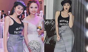 Bảo Anh cao tay phối 'đồ tắm' thành trang phục đi ăn cưới