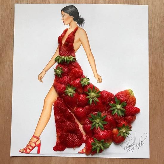 Rau củ, bánh trái bỗng chốc hóa váy áo đẹp lung linh - 9