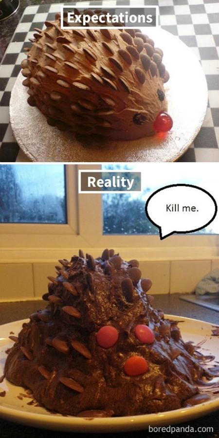 Bánh chocolate nhím nhìn đẹp mà làm chẳng dễ tẹo nào.