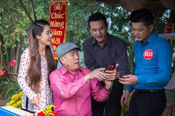 B Trần làm tình địch của Lương Thế Thành trong phim Tết - 6