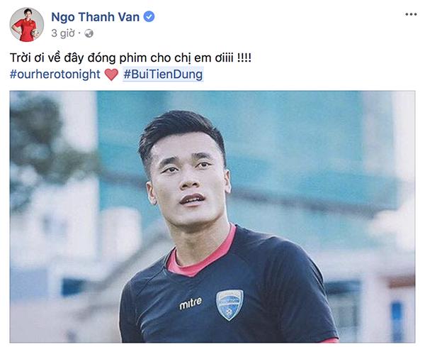 Dàn mỹ nhân Việt cũng phát cuồng với Tiến Dũng thủ môn - 3