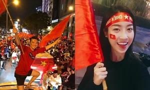 Sao Việt hủy show, sang Trung Quốc ủng hộ U23 trước chung kết