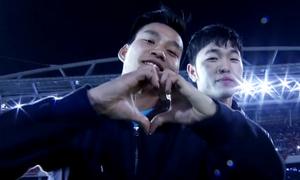 Đội tuyển U23 Việt Nam cùng hát vang 'Niềm tin chiến thắng'