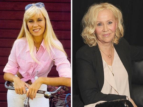 Hình trước quá khứ và hiện tại của Agnetha Faltskog.