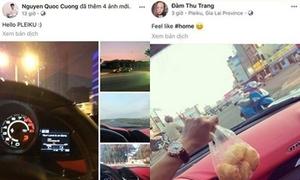 Đàm Thu Trang về quê Cường Đô La đón Tết?