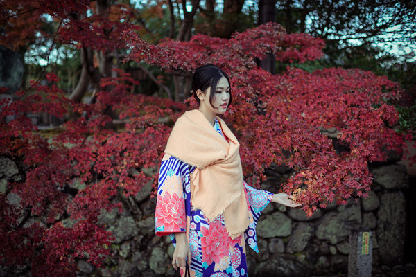 Á hậu cao nhất Việt Nam đẹp mong manh trong trang phục truyền thống Nhật Bản - 4