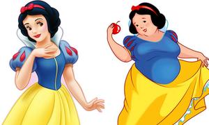 Công chúa các phim hoạt hình kinh điển phiên bản 'sắc đẹp ngàn cân'
