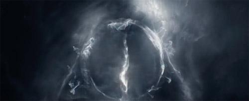 Biểu tượng của bảo bối tử thần xuất hiện trong phim.