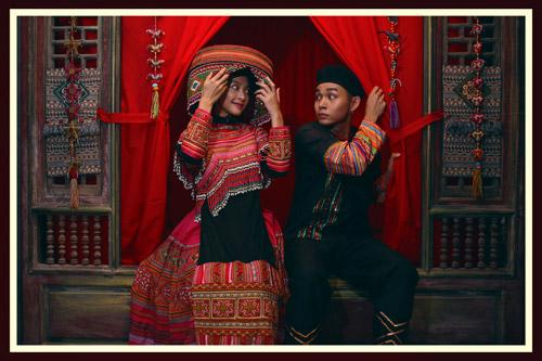 Đám cưới với trang phục dân tộc
