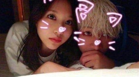 Bức ảnh khiến các fan nghi ngờ Mina và Bambam hẹn hò.
