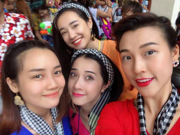 Dàn sao Việt chơi trội với quần áo loè loẹt tại lễ hội té nước Thái Lan - 7