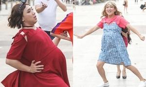Trấn Thành, Trường Giang hóa bà bầu 'náo loạn' phố đi bộ