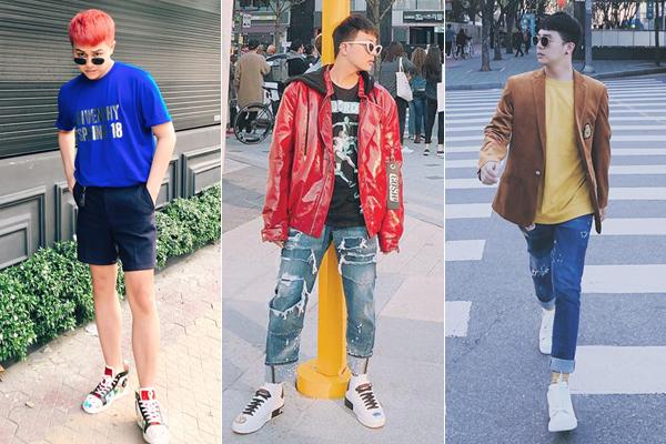 Sneakers là kiểu giày được nam diễn viên sắm nhiều hơn cả, đến từ các thương hiệu Fendi, Gucci, Balenciaga, Louis Vuitton... là chủ yếu.