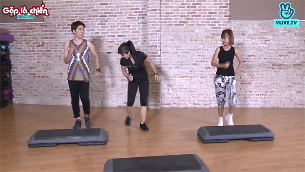 Kelvin Khánh mướt mồ hôi trong phòng tập Aerobic - 5