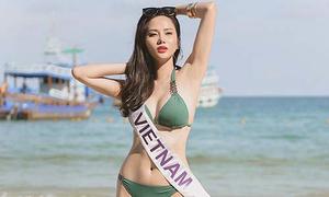 Diệu Linh khoe body nóng bỏng bên các đối thủ Nữ hoàng Du lịch Quốc tế 2018