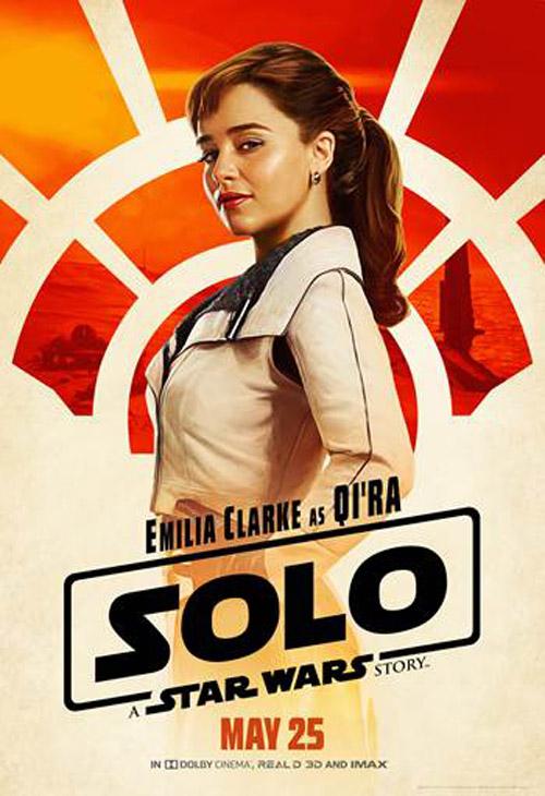 Mẹ Rồng Emilia Clarke sẽ hóa thân thành người bạn thân thiết của Han Solo, Qira