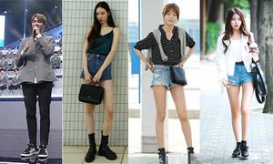6 thần tượng được xếp vào hội 'chân dài 1 mét' của Kpop