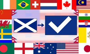 Màu nào không có trong lá cờ của các quốc gia này?