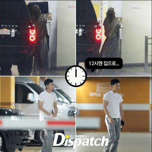 Lee Seung Gi bị tóm gọn khi đang gặp mặt bạn gái ở hầm để xe.
