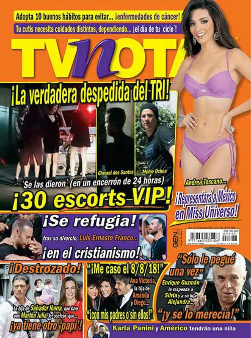 Trên ảnh bìa của tạp chí TVNotas, xuất hiện hình ảnh thủ môn Ochoa và Giovani dos Santos.