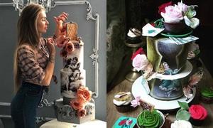 Nữ đầu bếp tạo ra những chiếc bánh đẹp như tranh vẽ