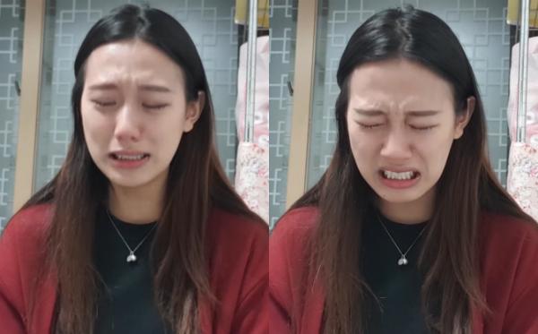 Yang Ye Won vừa khóc vừa kể về việc bị quấy rối tình dục.