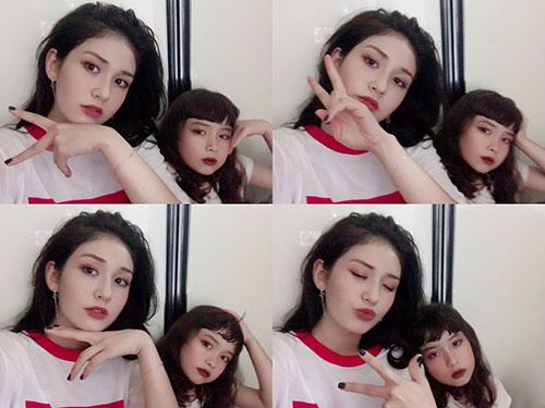 Evelyn năm nay 8 tuổi và thường xuyên được xuất hiện trên Instagram của chị gái nổi tiếng. Hai chị em nói chuyện với nhau bằng tiếng Anh, cùng trang điểm và cover những ca khúc quốc tế.