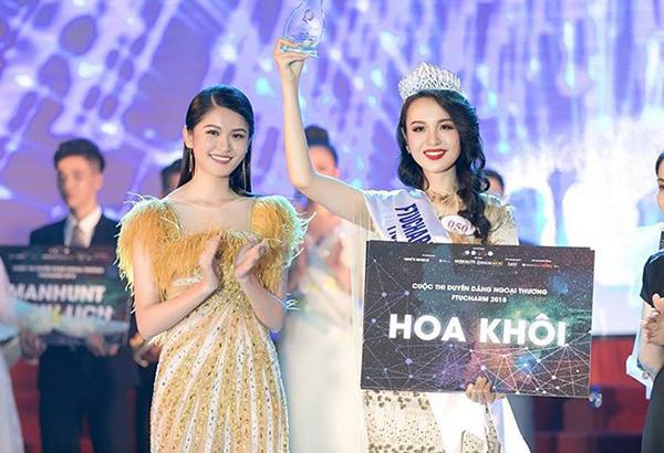 Thủy Tiên là sinh viênkhoa Kinh tế Đối ngoại, trường ĐH Ngoại Thương (TP.HCM) vừa trở thành hoa khôi cuộc thi Duyên dáng Ngoại thương - FTUCharm 2018. Đêm chung kết diễn ra tối 20/5.