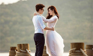 Á hậu Tú Anh tung ảnh cưới lãng mạn với bạn trai thiếu gia