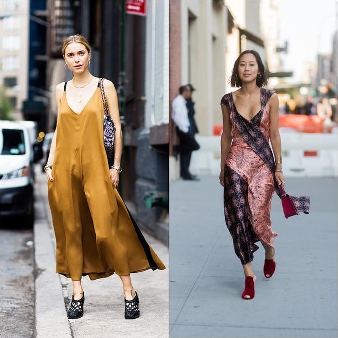 <p> Slip dress với chất liệu lụa bóng mát mẻ cũng là một lựa chọn giúp các nàng thấy dễ chịu giữa thời tiết oi ả của mùa hè.</p>