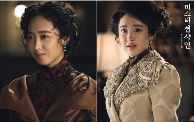 <p> Những bộ váy kết ren, ruy băng cầu kỳ hay những chiếc mũ diêm dúa đều tôn lên vẻ đẹp bí ẩn, mặn mà của Kim Min Jung.</p>