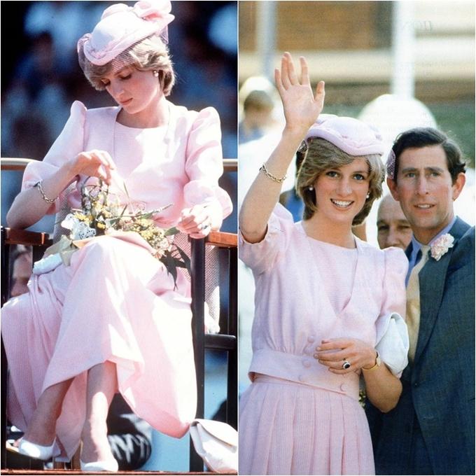 <p> Hình ảnh đẹp mơ màng như một đóa hồng Anh đích thực của Công nương trong ngày 29/3/1983, khi bà và Thái tử Charles có viếng thăm chính thức Australia.</p>