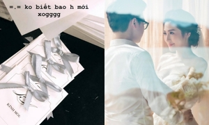 Tú Anh hé lộ thiệp cưới trước ngày theo chàng về dinh