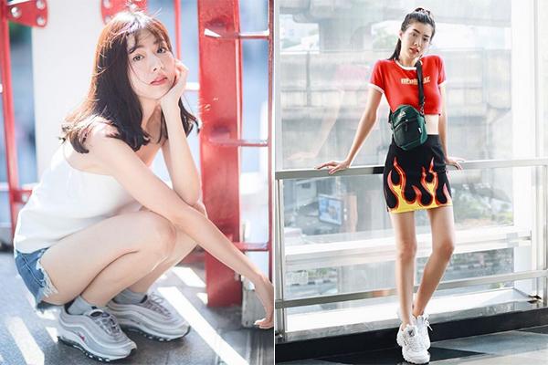 Những món hàng hiệu theo phong cách streetwear những năm 90 xuất hiện dày đặc trong các bức ảnh street style của cô nàng. Hot girl hiện thu hút gần 400 nghìn người theo dõi trên Instagram.