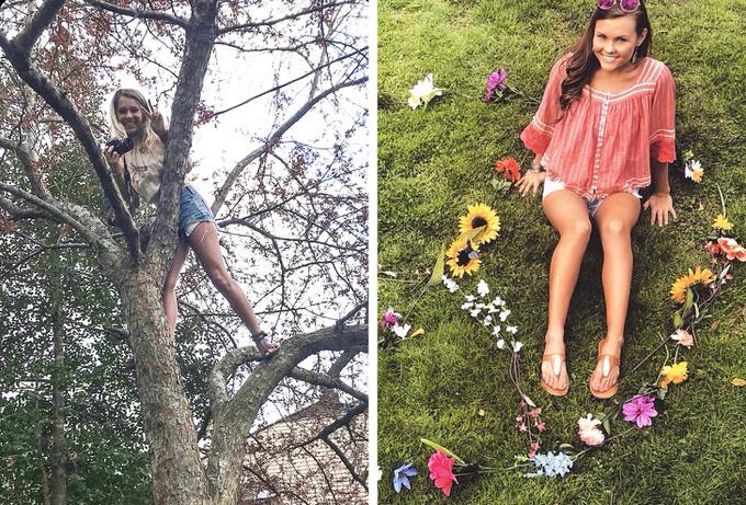 <p> Trèo cả cây để chụp ảnh cơ mà, quả là người bạn có tâm.</p>