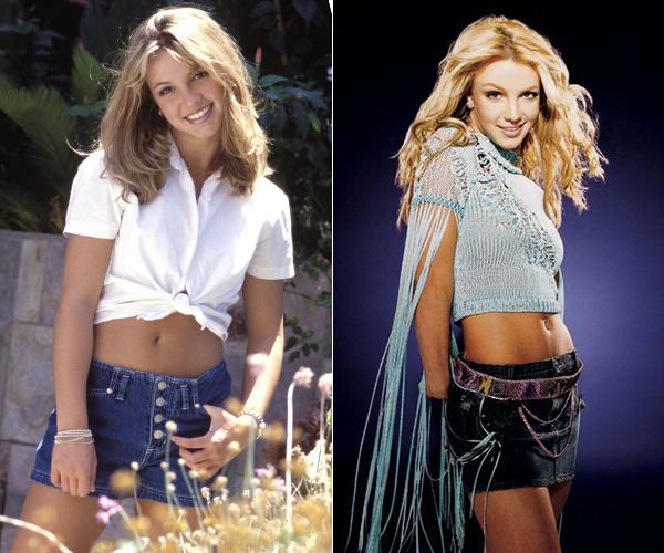 Đi theo hình tượng gợi cảm, Britney luôn ưu tiên những chiếc váy có chiều dài chỉ độ một gang tay, kết hợp cùng croptop để khoe vòng eo gọn gàng, săn chắc.