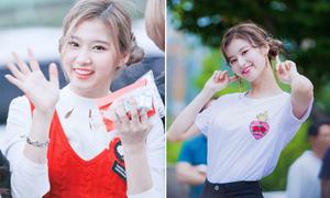 Để cùng một style tóc, Sana (Twice) đổi thần thái nhờ giảm cân